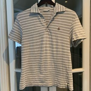 Vintage Moncler striped polo shirt. Size small
